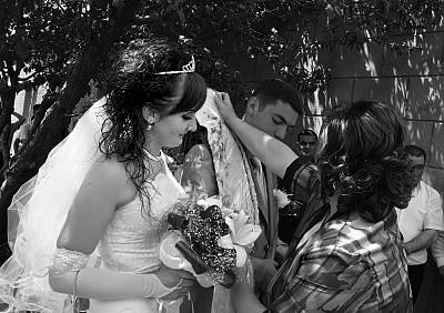 Bir düğünden lavaş seremonisi