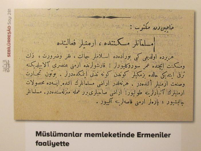 Belediye'den 'hain Ermeni', 'asker kaçağı Rum' sergisi