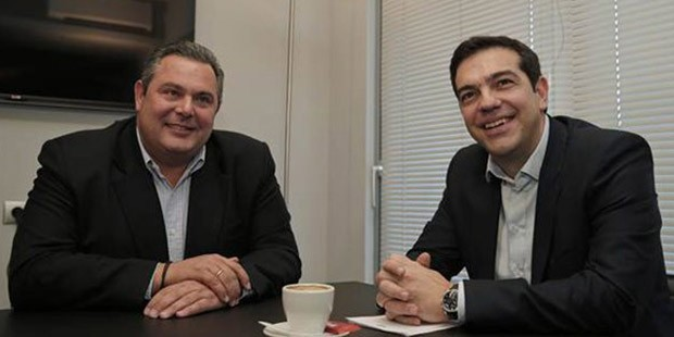 SYRIZA -ANEL coalition forms new Greece government