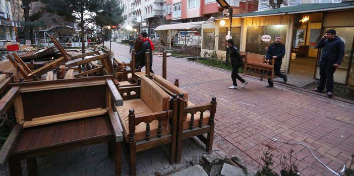 Sanat Sokağı'ndaki kafeler kaldırıldı
