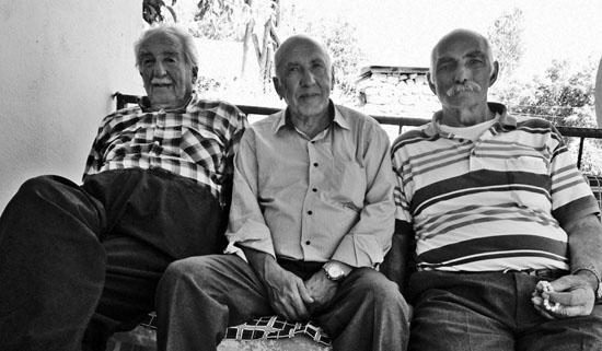 Soldan sağa: Kâzım Emir, Şükrü Er, Cafer Erol