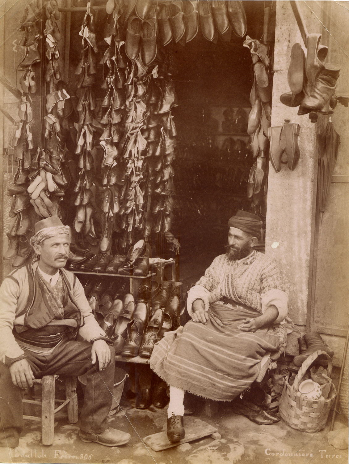 Abdullah Frères, 1870s, Turkish shoemakers.