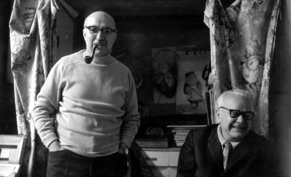 Jak ve Vartan İhmalyan. Fotoğraf: Ara Güler