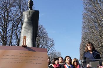 Soykırım kurbanı kadınlar anıtı Paris'te açıldı