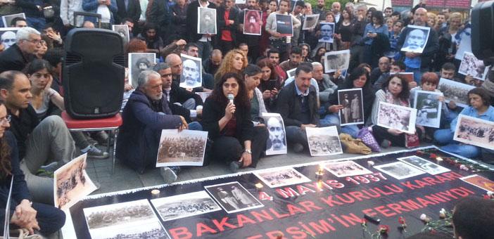 Taksim'de Dersim katliamı anması