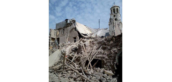Aleppo's oldest Armenian Church bombed