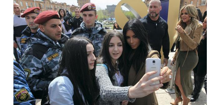Yerevan'da Kim Kardashian çılgınlığı