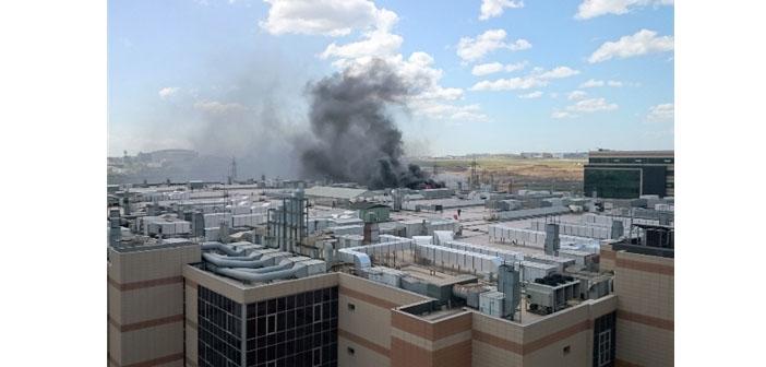 Kuyumcukent'te yangın: Bina boşaltıldı