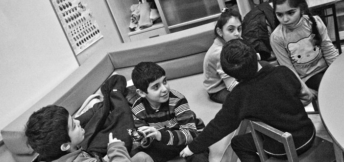 Hrant Dink School students dream of a real classroom