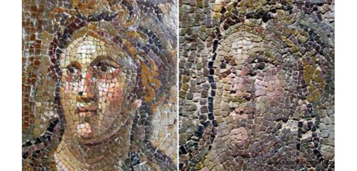 Tarihi mozaiklere 'olmaz olsun' dedirten restorasyon