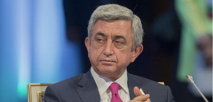 Sarkisyan: Türkiye'nin 'sıfır sorun' politikası 'sıfır komşu'yla sonuçlandı