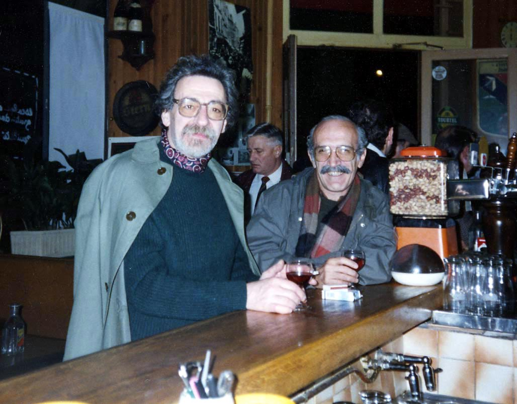 Sinan Bıçakçı (solda) ve Tan Oral Paris'te.