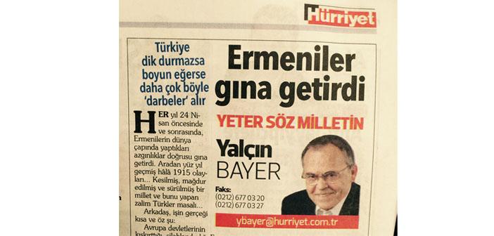 Yalçın Bayer'den ırkçılık kokan köşe yazısı