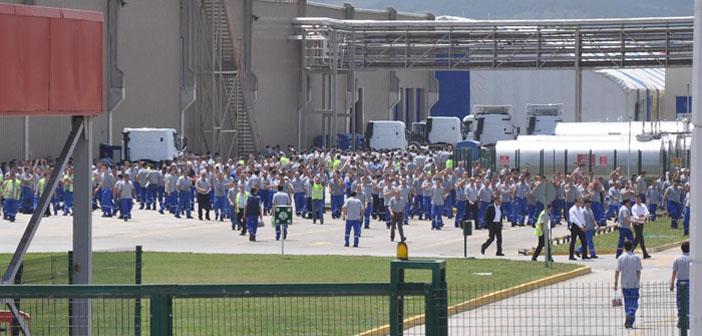 Eskişehir Ford Otosan işçileri de greve katıldı