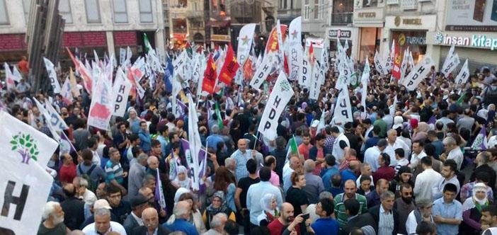 HDP'ye yönelik saldırılara illerden ortak tepki