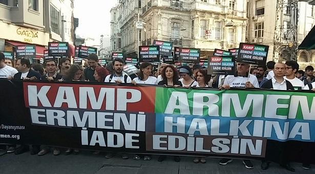 Kamp Armen'in iadesi için yürüdüler