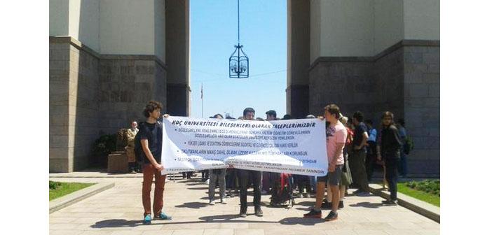 Koç Üniversiteliler Dayanışması'ndan metal işçilerine destek