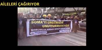 Madenci aileleri 10 Mayıs'ta Soma'ya çağırıyor