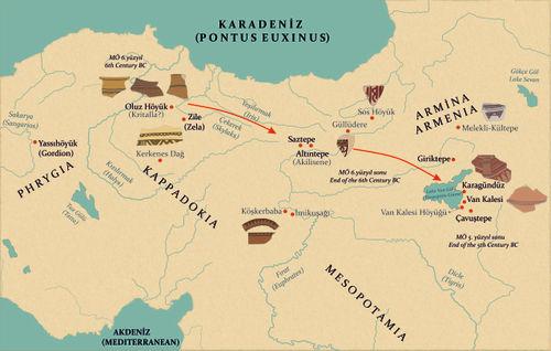 Doğu Anadolu Yaylası'nda gerçekleştirilen 'Kızılırmak Havzası Demir Çağı göçlerinin' önemli kanıtları, fisto motifli boya bezemeli çanak-çömlek grupları
