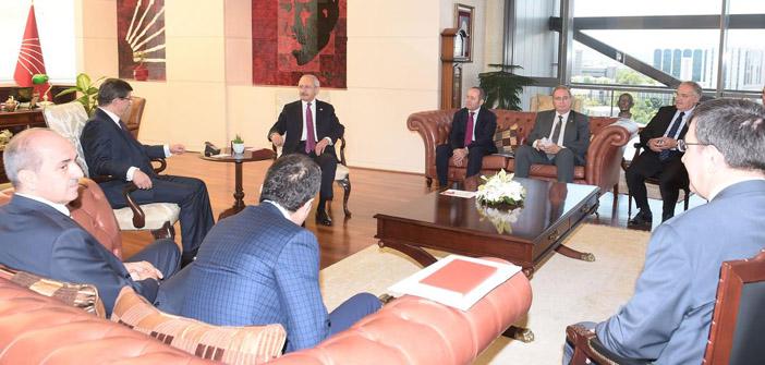 Koalisyon görüşmeleri: AKP - CHP heyetleri bir araya gelecek