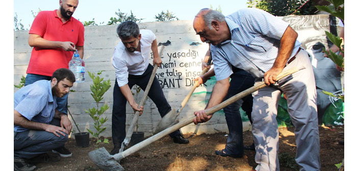 32 trees planted at Kamp Armen in memory of Suruç victims