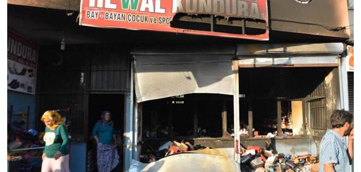 Tarsus'ta BDP'li eski yöneticinin işyeri ateşe verildi