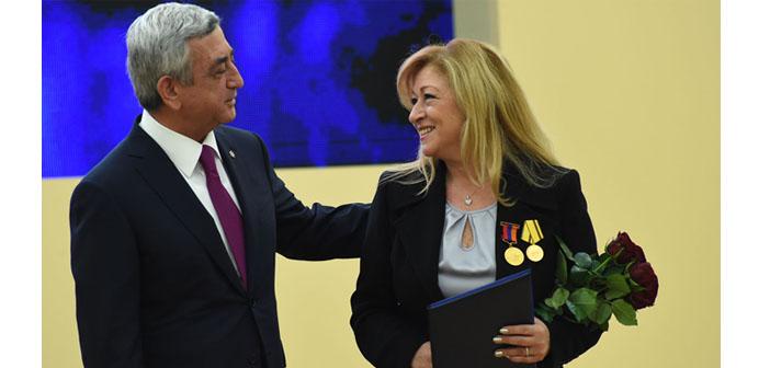 Julia Mutlu'ya Ermenistan liyakat madalyası