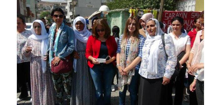 Barış İçin Kadın Dayanışma Grubu Cizre'de
