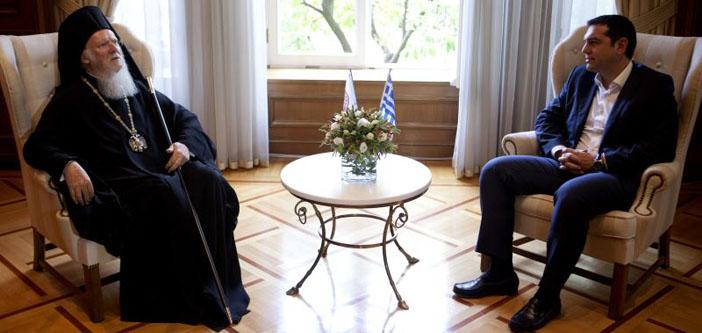 Ekümenik Patrik Tsipras'la görüştü