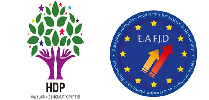 Avrupa Ermeni Federasyonu'ndan HDP'ye destek çağrısı