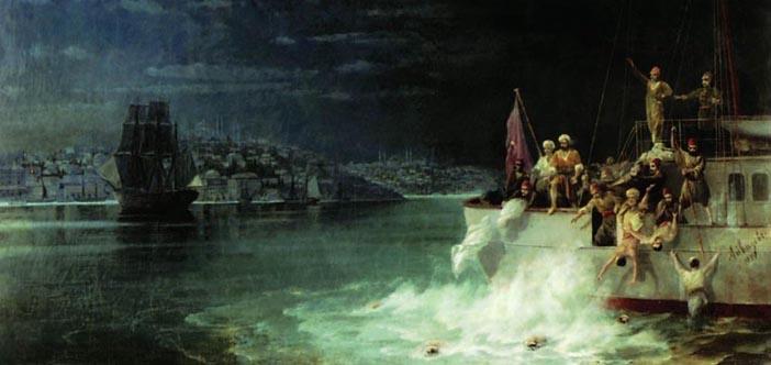 Ayvazovski madalyalarını nasıl denize attı?