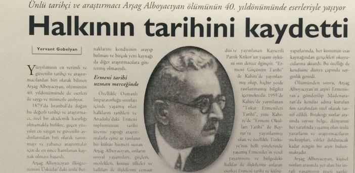 Agos'un arşivinden: Halkın tarihini kaydeden Arşag Alboyacıyan