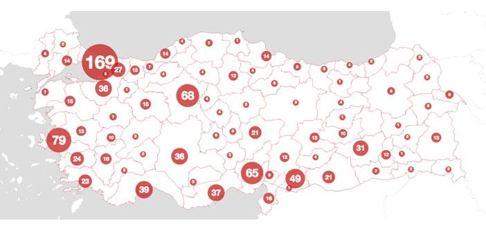 Kadın cinayetleri haritası yayınlandı