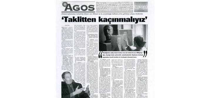 Agos'un arşivinden: Hrant Dink -  Kerabaydzar Zekiyan söyleşisi