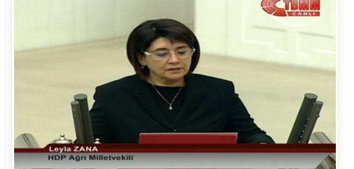 Լեյլա Զանան երդումը քրդերեն է սկսել և «Թուրքիայի ազգ» բառերով ավարտել