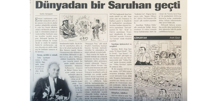 Agos' archive: Once, there was Saruhan