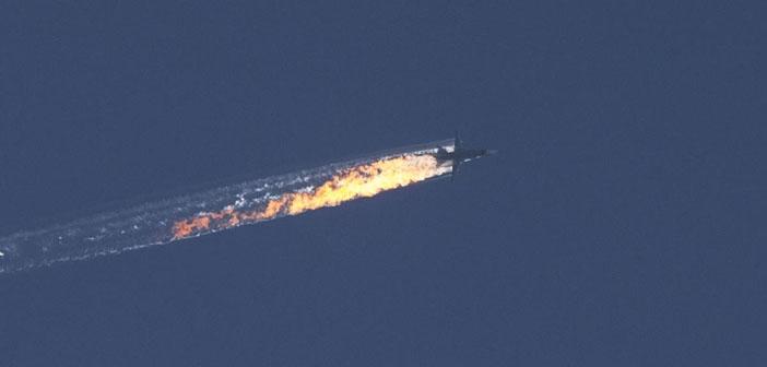 Suriye sınırında Rusya savaş uçağı düşürüldü