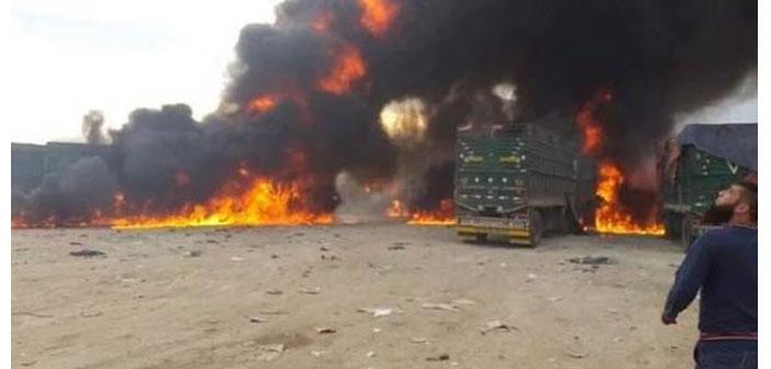 Suriye'de tırlara hava saldırısı: 7 ölü