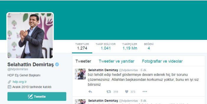 Demirtaş'tan Başbakan'a: Bu ülkede olan bitenler sizin sorumluluğunuzda