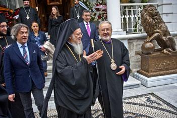 Ermeni Patrikhanesi'nin misafirleri vardı