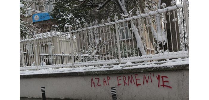 Kalfayan'ın duvarına ırkçı yazı