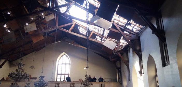 Halep'teki Ermeni Protestan kilisesine roket saldırısı
