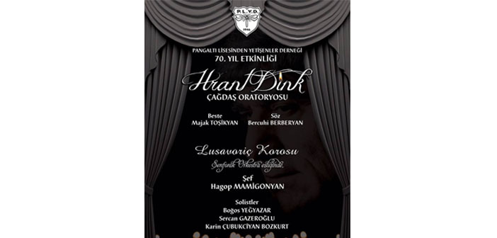 'Hrant Dink Oratoryosu'nun İstanbul'da ilk gösterimi yapılacak