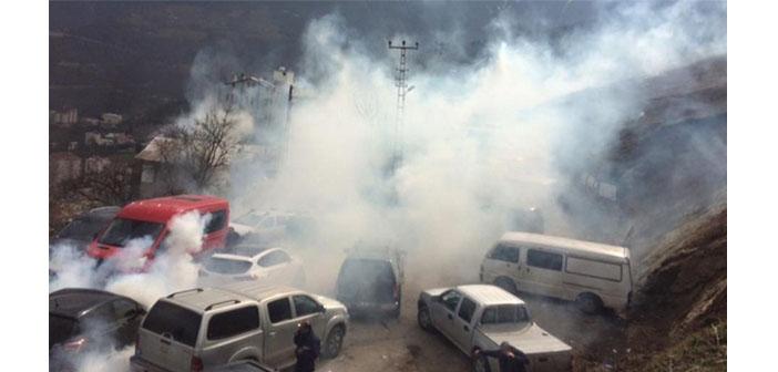 Cerattepe'de maden istemeyenlere gazlı polis müdahalesi