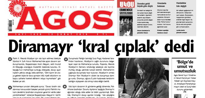 Agos'un merceğinden: Diramayr'ın açıklamalarına cevaben kamuoyuna