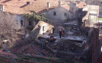 Narmanlı Han'daki yıkımdan yeni görüntüler