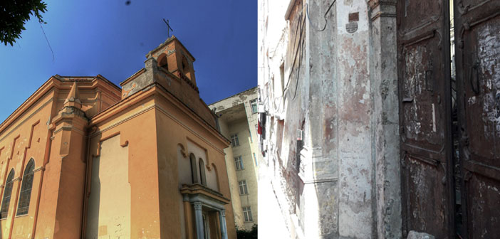 What happened to two churches in Bursa?