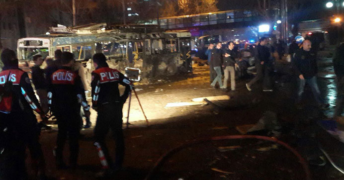 Bombing attack in Ankara: 37 people killed