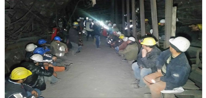 220 madencinin açlık grevi sekizinci gününde