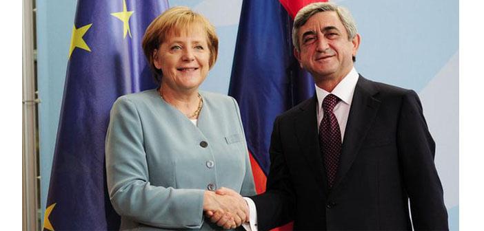 Sarkisyan ve Merkel görüştü